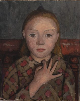 Paula Modersohn-Becker - Meisje met gespreide hand voor borst, 1905. Von der Heydt-Museum Wuppertal